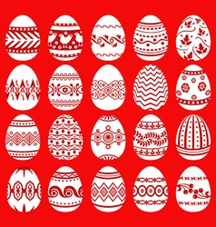 Easter egg set red vector