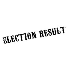 Election Result rubber stamp vector