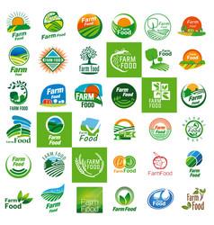 farm food logo set vector image