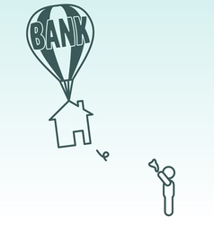 Foreclosure vector image