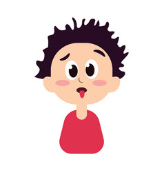 funny boy showing tongue vector image