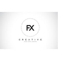 Fx f x logo design with black and white creative vector
