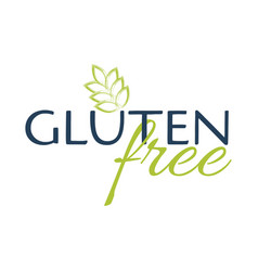 Gluten free logo style sign simple vector