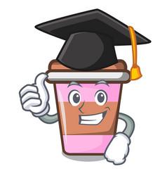 Graduation coffee cup character cartoon vector