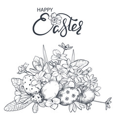 hand drawn ornate easter vector image