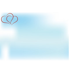 heart and sky space for your text vector image