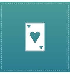 Hearts card icon vector