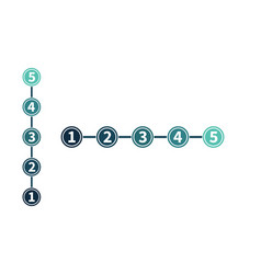 infographic in five steps numbers in circles vector image