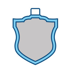 isolated security shield vector image