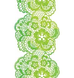Lacy elegant watercolor border lacy vintage trim vector