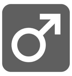 Male Symbol Flat Squared Icon vector