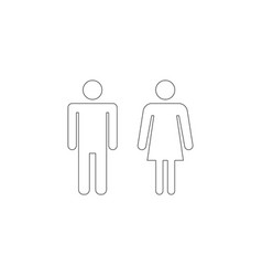 Man and woman wc flat icon vector