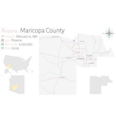 Map maricopa county in arizona vector