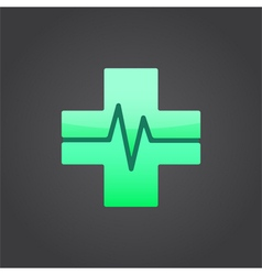 Medical cross sign vector