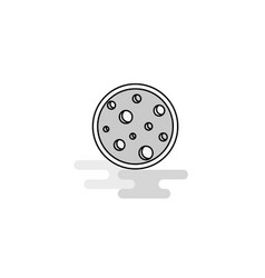 moon web icon flat line filled gray icon vector image