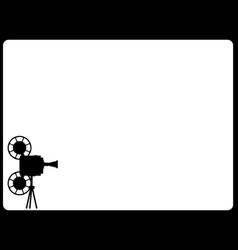 Movie cine projector backdrop vector