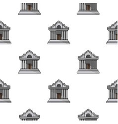 Museum building icon in cartoon style isolated on vector
