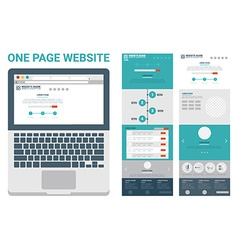 One page website theme vector