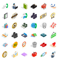 operator icons set isometric style vector image vector image