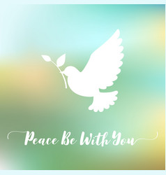 peace be with you hand lettering calligraphic vector image