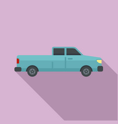 Pickup car icon flat style vector