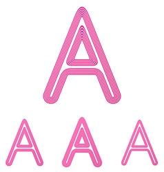 Pink letter a logo design set vector image