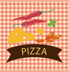 Pizza logo with cheese vector