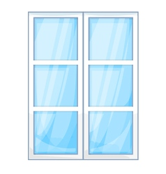 Plastic window outside vector image