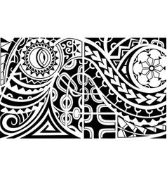 Polynesian style armband tattoo vector