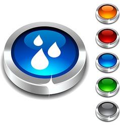 Rain 3d button vector