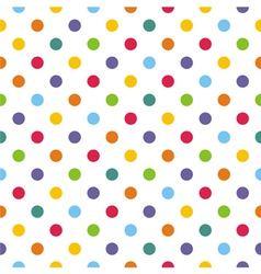 Seamless pattern texture with corolful polka dots vector