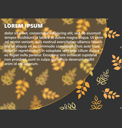 semi-circular frame autumn leaves vector image