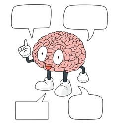 set of brain cartoon vector image
