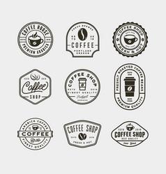set of modern vintage coffee shop labels vector image