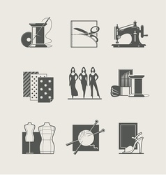 Sewing Set of icons vector image