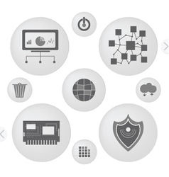 simple icons for computer vector image
