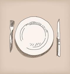 Sketch plate vector