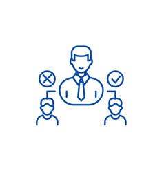 social hierarchy line icon concept social vector image