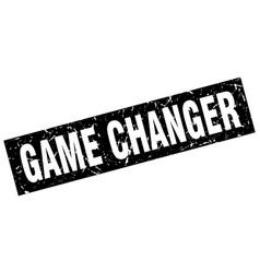 Square grunge black game changer stamp vector