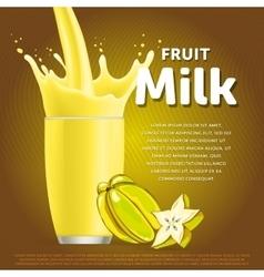 Star fruit sweet milkshake dessert cocktail vector image