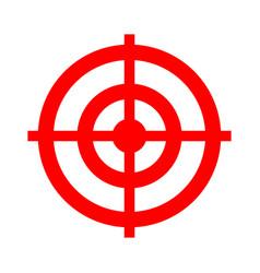 Target aim icon target symbol - cross aim sign vector