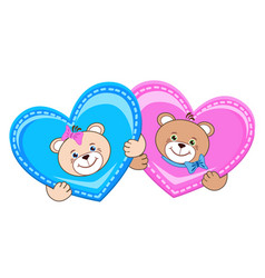 Teddy bear with heart vector