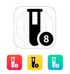 Test tube with number icon vector image vector image