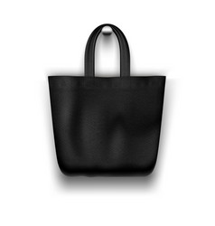 textile black tote bag hanging on wall vector image