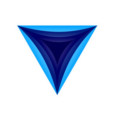 triangle dimensional hole symbol logo design vector image
