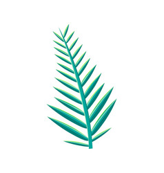 tropical leaf green branch vector image