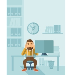 Unhappy businessman vector