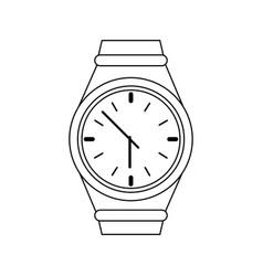 Watch clock icon image vector