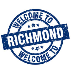 welcome to richmond blue stamp vector image