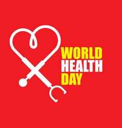 World health day template design vector